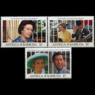 ANTIGUA 1991 - Scott# 1451-3 Royal Family $2-5 MNH - Antigua Und Barbuda (1981-...)