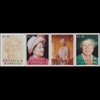 ANTIGUA 1995 - Scott# 1909 Queen Mother Set Of 4 MNH - Antigua Und Barbuda (1981-...)