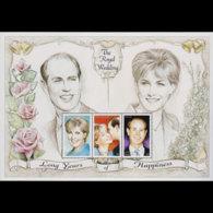 ANTIGUA 1999 - Scott# 2268 S/S Royal Wedding MNH - Antigua Und Barbuda (1981-...)
