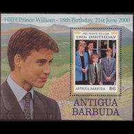 ANTIGUA 2000 - Scott# 2329 S/S Prince William MNH - Antigua Und Barbuda (1981-...)