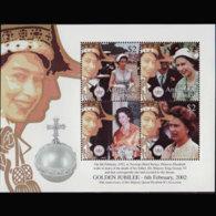 ANTIGUA 2002 - Scott# 2542 S/S Queen MNH - Antigua Und Barbuda (1981-...)