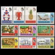 BAHAMAS 1976 - Scott# 313a-30b Defins Wmk 373 Set Of 10 MNH - Bahamas (1973-...)