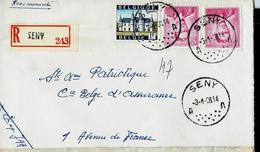Doc. De SENY - A A - Du 03/01/68  En Rec. ( Lunettes) - Postmark Collection