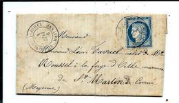 Lettre Du 01/05/1876 - Cachet VILLAINES La JUHEL (Mayenne) Sur Céres - Signée GARNIER Pour FAVRIEL Forge D'Orthe - 1849-1876: Période Classique