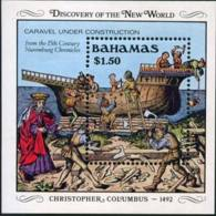 BAHAMAS 1989 - Scott# 667 S/S Shipbuilding MNH - Bahamas (1973-...)