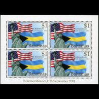 BAHAMAS 2002 - Scott# 1039A S/S Sept.11 MNH - Bahamas (1973-...)