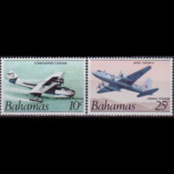 BAHAMAS 1985 - Scott# C1a-2a Planes 10-25c MNH - Bahamas (1973-...)