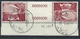 JJ-/-505-  Tête-bêche  Avec Pont, N° 485b,  Obl. Avec DATE  D'IMPRESSION Du 23.01.1952 ,  Cote 4.00 €   , Je Liquide - Tête-Bêche