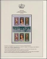 Aitutaki Jubiläum Elizabeth II. Portrait & Holzstatue, Block Mit Zierfeld ** - Case Reali