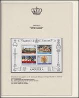 Anguilla Jubiläum Elizabeth II. Krönungsprozession & Wappen, Block ** - Case Reali
