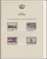 Anguilla Jubiläum Elizabeth II. Krönungsprozession & Wappen, 4 Marken ** - Case Reali