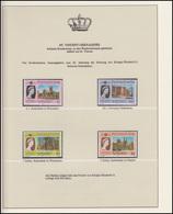 St. Vincent Und Grenada Jubiläum Elizabeth II. & Kathedralen, 4 Marken ** - Royalties, Royals