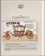 Antigua Jubiläum Elizabeth II. Krönungskutsche, Markenheftchen ** - Case Reali