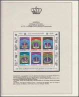 Barbuda Jubiläum Elizabeth II. Historische Kronen, Block ** - Case Reali