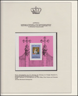 Antigua Jubiläum Elizabeth II. Im Krönungsornat Mit Prinz Philipp, Block ** - Case Reali