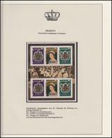 Penrhyn Jubiläum Elizabeth II. Krönung & Westminster & Wappen, 2 Blöcke ** - Case Reali