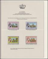 St. Vincent Jubiläum Elizabeth II. Portrait & Britische Kathedralen, 4 Marken ** - Royalties, Royals