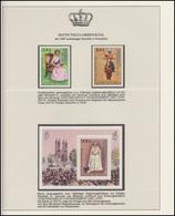 Obervolta Jubiläum Elizabeth II. Mit Aufdruck, 2 Marken & 1 Block Gezähnt ** - Case Reali