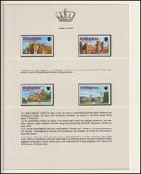 Gibraltar Jubiläum Elizabeth II. Britische Königsschlösser, 4 Marken ** - Case Reali