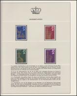 Großbritannien Elizabeth II. Staatskarosse Krone Reichsapfel, 4 Marken ** - Case Reali