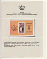Antigua Jubiläum Elizabeth II. Krönungszeremonie, Vorläufer-Gedenkblock ** - Case Reali