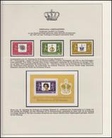 Grenada-Grenadinen Jubiläum Elizabeth II. Krönungssymbole, 3 Marken +1 Block ** - Case Reali