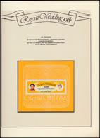 St. Vincent: Royal Wedding 1981 Lady Diana & Charles, Block ** Auf Albumblatt - Royalties, Royals