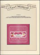 Seychellen: Royal Wedding 1981 Lady Diana & Charles, Block ** Auf Albumblatt - Royalties, Royals