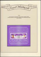 Nevis: Royal Wedding 1981 Lady Diana & Charles, 1 Block ** Auf Albumblatt - Royalties, Royals