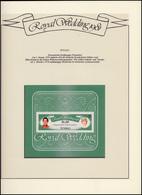Tuvalu: Royal Wedding 1981 Lady Diana & Charles, 1 Block ** Auf Albumblatt - Royalties, Royals