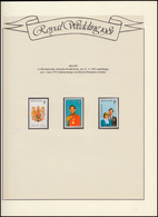 Belize Royal Wedding 1981 Lady Diana & Charles, 3 Ungezähnte Marken ** Auf Blatt - Royalties, Royals