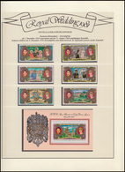 Zentralafrika. Republik Royal Wedding 1981 Lady Diana & Charles, Satz + Block ** - Case Reali