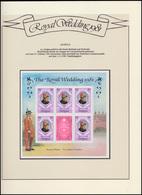 Antigua: Royal Wedding 1981 Lady Diana & Charles, 3 Blöcke ** Auf Blättern - Royalties, Royals