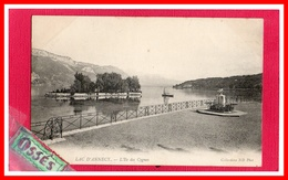 DEUX C.P.A. LAC D'ANNECY.- L'Ile Des Cygnes. Et De La Tournette.(rectos Versos) - Annecy