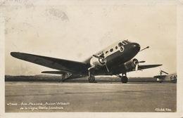 Air France Avion Wibault De La Ligne Paris Londres  Timbrée Le Bourget 1937 Edit Godneff Aubervilliers - 1919-1938: Entre Guerras