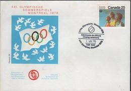 JO76-E/L17 - CANADA FDC De La Cérémonie De Clôture Des Jeux Olympiques De Montréal - 1952-.... Règne D'Elizabeth II