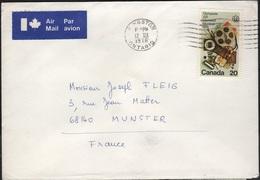 JO76-E/L19 - CANADA Lettre Par Avion Pour La France Jeux Olympiques De Montréal - 1952-.... Règne D'Elizabeth II
