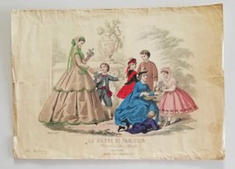 La Madre Di Famiglia - Periodico Di Mode Bologna Maggio 1865 - Stiche & Gravuren