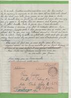 Courrier 4/42 De Montreux-Vieux (68) D'une Amie Racontant Son Travail à Dresde Et Sa Vie En Lager Pour Fribourg - Guerra Del 1939-45