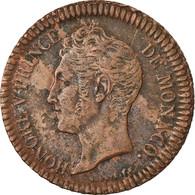 Monnaie, Monaco, Honore V, Decime, 1838, Monaco, TTB, Cuivre, Gadoury:105 - Monaco