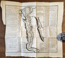 Jacques Nicolas Bellin / Canu Sculp  - Essay D'une Carte D'Egypte Fait Au Cayre En 1715  [1760] - Afrika - Egypte - Geographical Maps