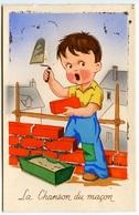 Enfant - Carte à Système - Maçon  - Voir Scan - Cartes Humoristiques