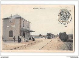 CPA 51 C B R Bouzy La Gare Et Le Tramway - France