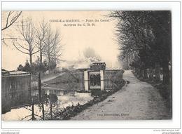 CPA 51 C B R Condé Sur Marne Pont Du Canal Et Le Tramway - France