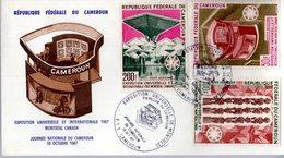 """"""" EXPOSITION UNIVERSELLE DE MONTREAL, PAVILLON DU CAMEROUN """" Sur Enveloppe 1er Jour De 1967 Parfait état  FDC - 1967 – Montreal (Kanada)"""