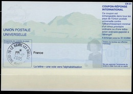 FRANCE Pe31 20020920 CE International Reply Coupon Reponse Antwortschein IRC IAS o LE HAVRE 24.12.2005 - Biglietto Postale