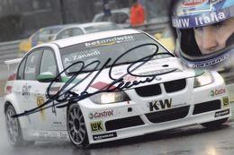 Alex Zanardi F1 Motor Racing At 2006 Motorshow Hand Signed Photo - Sports