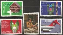 Suisse, Helvetia 1981 MiNr.1191/1195 -Yvert 1121/1125 Postfrisch/MNH/** - Svizzera