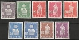 Suisse, Helvetia 1958 + 1960 Nations Unies -complete MNH**- Yvert Service 399-404 + Yv 426-428 - Dienstpost
