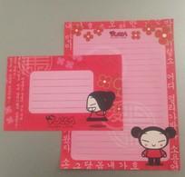 Enveloppe Et Feuille De Papier D'écriture Pucca Funny Love - Otras Colecciones